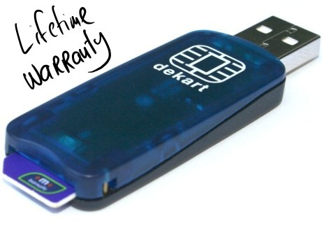 USB SIM Reader with lifetime warranty